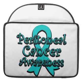Peritoneal Cancer Awareness Ribbon Sleeves For MacBook Pro
