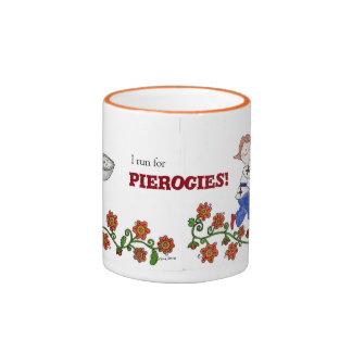 Perogie Boy Ukrainian Folk Art Ringer Mug