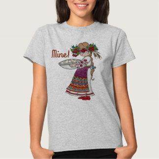 Perogie Pierogie Pyrohy Girl Ukrainian Folk Art Tshirts