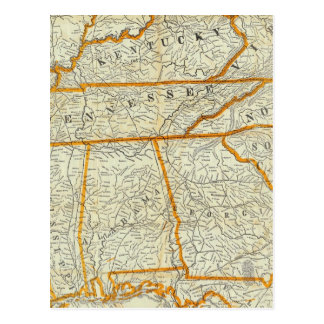 Perrine's New Topographical War Map Postcard