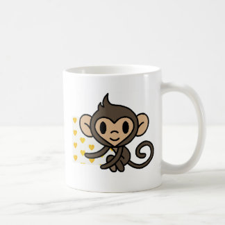 *!PERSONALISED!* cute monkey Basic White Mug