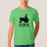 Personalised Farm Tractor This is How I ROLL Tshirt
