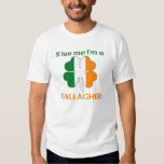 Personalised Irish Kiss Me I'm Gallagher Shirt
