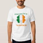 Personalised Irish Kiss Me I'm Thompson Tshirts