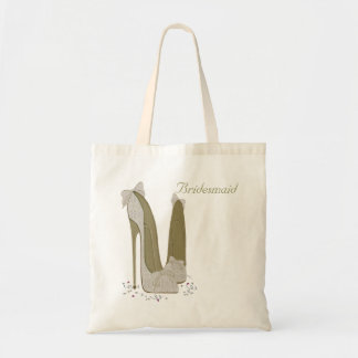 Personalised Party Stiletto Shoe Art Budget Tote Bag