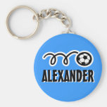 Personalised soccer ball keychain for kids name