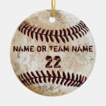 Personalised Team Vintage Baseball Ornaments