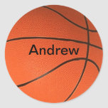 Personalised with Your Name Basketball Stickers