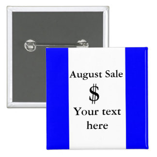 PERSONALIZE BUSINESS 15 CM SQUARE BADGE