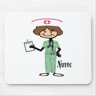 Personalize Female Nurse Mouse Pad