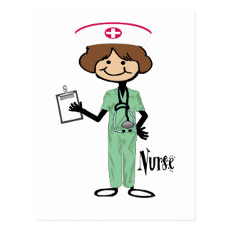 Personalize Female Nurse Postcard