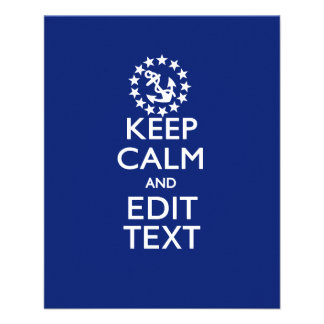 Personalize Your Nautical Keep Calm And Edit Text 11.5 Cm X 14 Cm Flyer