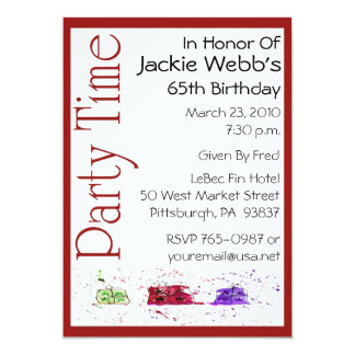 Personalized 65th Birthday Party Invitation