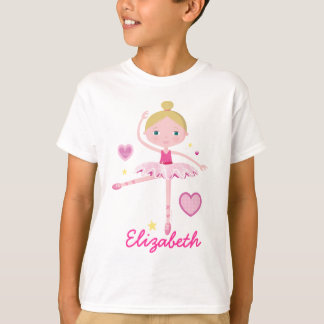 Personalized Ballerina A Tee Shirt