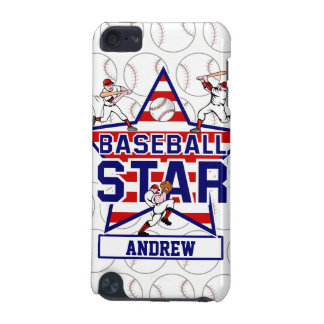 Personalized Baseball Star and stripes iPod Touch 5G Covers