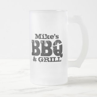Personalized beer mug for BBQ party