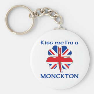 Personalized British Kiss Me I'm Monckton Basic Round Button Key Ring