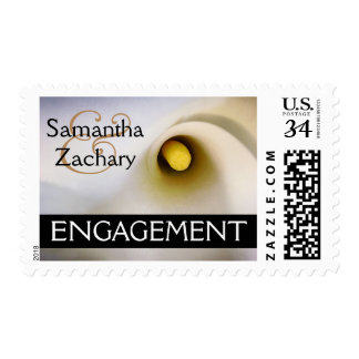 Personalized Calla Lily Engagement Postage Stamps