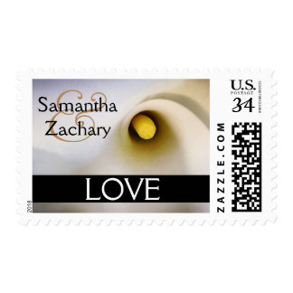Personalized Calla Lily Love Postage Stamps