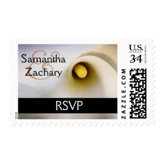 Personalized Calla Lily RSVP Postage Stamps