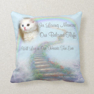 Personalized Cat Memorial Stairway to Heaven Cushions