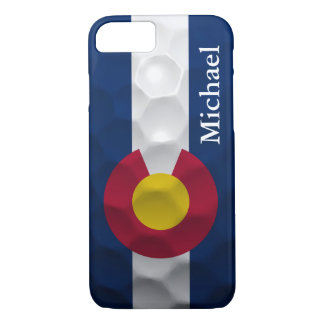 Personalized Colorado Flag Golf Ball Pattern iPhone 7 Case