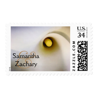 Personalized Couple Names Calla Lily Postage Stamp