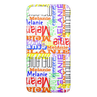 Personalized Custom Name Collage Colorful iPhone 7 Plus Case
