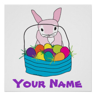 Personalized Easter Bunny Poster