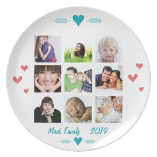 Personalized Family Photo Collage Party Plates