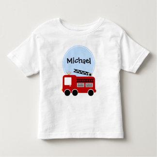 Personalized Fire Truck Boy Shirt
