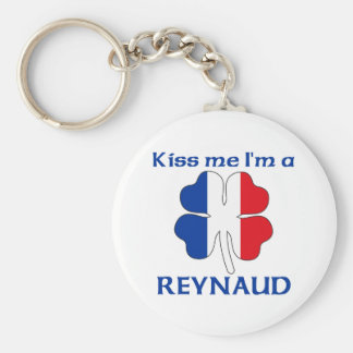 Personalized French Kiss Me I'm Reynaud Basic Round Button Key Ring