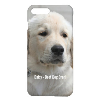 Personalized Golden Retriever Dog Photo and Name iPhone 7 Plus Case
