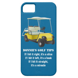 Personalized Golf Tip Golf Cart Blue iPhone 5 Case