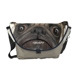 Personalized Grumpy Puggy Courier Bag