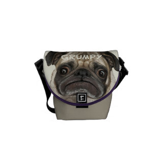 Personalized Grumpy Puggy Messenger Bag
