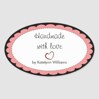 Personalized Handmade With Love Sticker Seals