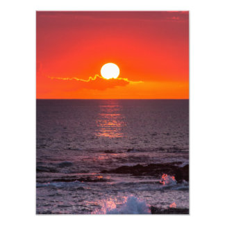 Personalized Hawaii Beach Ocean Tropical Sunset Photograph