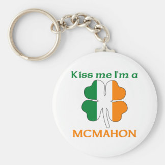 Personalized Irish Kiss Me I'm Mcmahon Basic Round Button Key Ring
