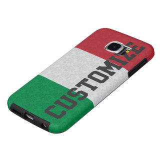 Personalized Italian Flag Damask Pattern Samsung Galaxy S6 Cases