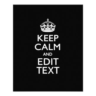 Personalized KEEP CALM AND Edit Text Invite 11.5 Cm X 14 Cm Flyer