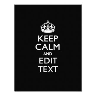 Personalized KEEP CALM AND Edit Text Invite 21.5 Cm X 28 Cm Flyer