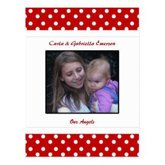 Personalized Ladybug & Polka Dot  Postcard