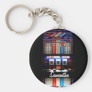 Personalized Lucky Slot Machine Keychain