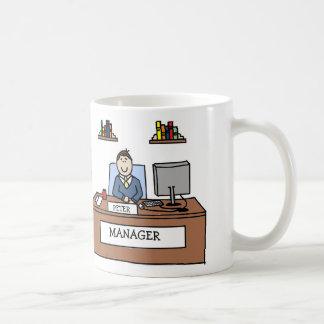 """Personalized """"Manager"""" cartoon mug"""