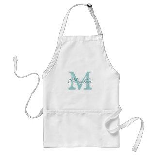 Personalized monogram baking apron for women