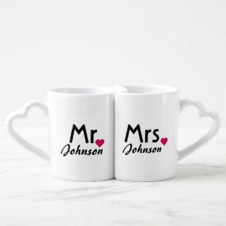 Personalized name Mr and Mrs mug set Lovers Mug