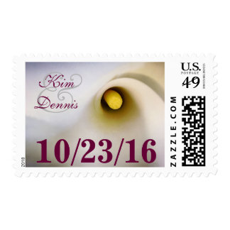 Personalized Names Date Calla Lily Postage Stamps