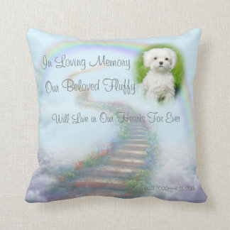 Personalized Pet Memorial Stairway to Heaven Cushion