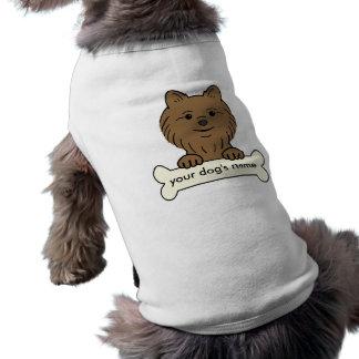 Personalized  Pomeranian Sleeveless Dog Shirt